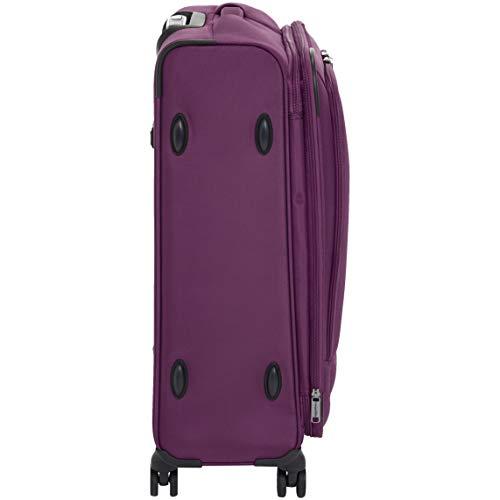 AmazonBasics Premium Expandable Softside Spinner Luggage With TSA Lock- 25 Inch, Purple by AmazonBasics (Image #5)