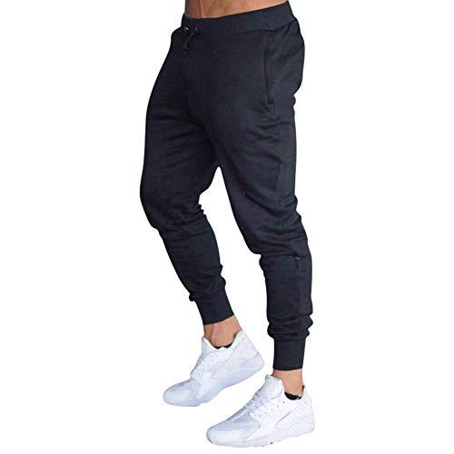 Mechaneer Men's Workout Active Pants Casual Fitness Joggers Running Bodybuilding Slim Fit Sweatpants(Black M/Tag XL) (Best Slim Fit Sweatpants)