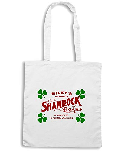 Bianca CIGAR SHAMROCK TIR0178 Borsa Shopper Speed Shirt zx6wfqaYxt