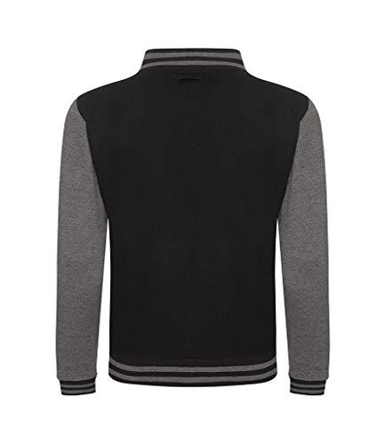 Awdis Hoods Varsity Letterman Jacket (Medium, Jet