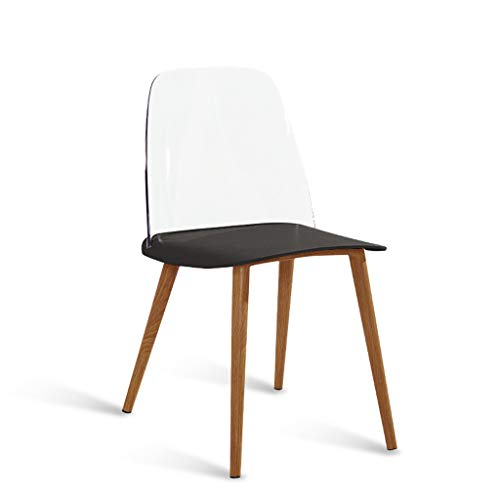 Lyqqqq Bar Stool Fashion Nordic Creative Danish Designer Dining Chair to Discuss Casual Home Creative Personality Modern Minimalist Chair (Color : Black)