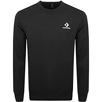 3813370f266a Converse Star Chevron Crew Black - Sweatshirt