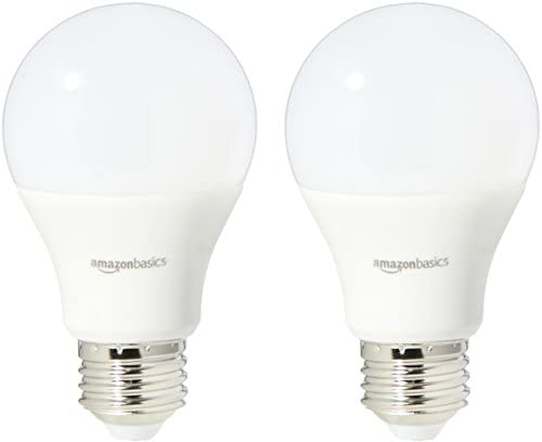 AmazonBasics 40 Watt Equivalent، Daylight، Dimmable، A19 لامپ لامپ LED | 2-بسته