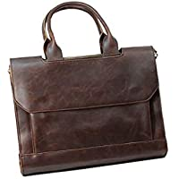 British style Retro Horsehide shoulder bag handbag business bag Messenger bag for Men TY12 Brown