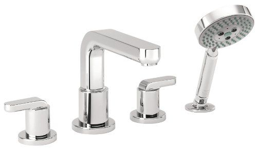Hansgrohe 31448001 Metris S 4-Hole Roman Tub Set Trim with Lever Handles, Chrome (Roman Tub Filler Trim Lever)