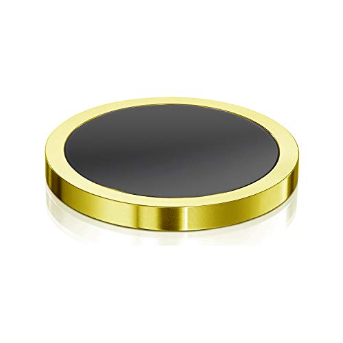 ForeverSpin 24kt Gold Plated Spinning Base(Micron-Polished Hardened Tempered Silica Glass) - World Famous Spinning Tops -
