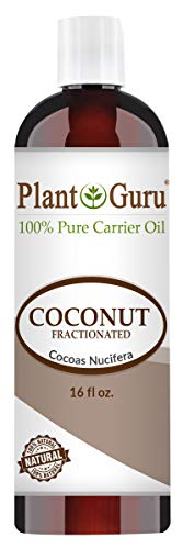 Fractionated Coconut Oil 16 oz 100% Pure MCT Natural Carrier - Skin, Face, Body, Massage and Hair Growth Moisturizer, Great for Diluting Aromatherapy Essential Oils