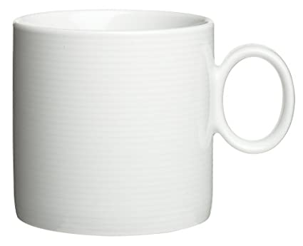 Rosenthal Thomas Loft White Mug / Modern Coffee Cup Made Of Porcelain /  Unique Design With