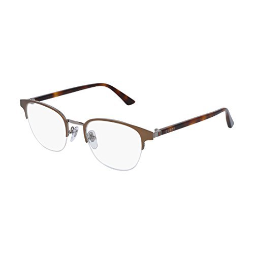 Gucci GG 0020O 002 Brown Metal Round Eyeglasses 49mm