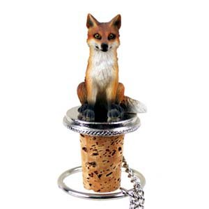 Pewter Fox - Conversation Concepts Fox Red Bottle Stopper