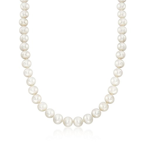 Ross-Simons Certified 10-11mm Cultured Pearl Necklace With 14kt Yellow -