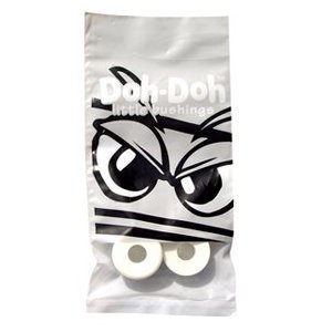 (Shorty's White Doh-Doh Bushings 98a Very Hard (2 sets) For Skateboards & Longboards by Shorty's)