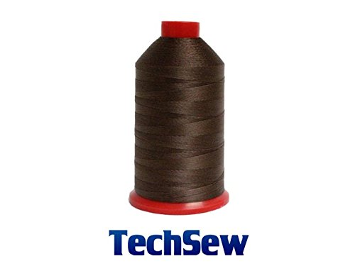 DARK BROWN TechSew Premium Bonded Nylon Sewing Thread #207 T210 8oz Spool 1000 yards for Leather Goods, Purses, Bags, Wallets, Shoes
