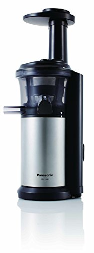 Panasonic Slow Juicer Mj L500 Saturn : Panasonic MJ-L500 Slow Juicer with Frozen Treat Attachment, Black/Silver, Desertcart