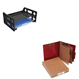 KITACC15006UNV08100 - Value Kit - Acco Presstex 20-Point Classification Folders (ACC15006) and Universal Side Load Letter Desk Tray (UNV08100)