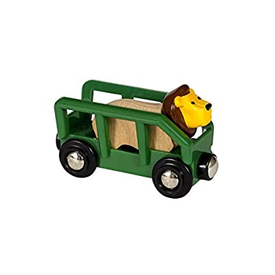 Brio 33966 World-Safari Lion & Wagon,: Toys & Games