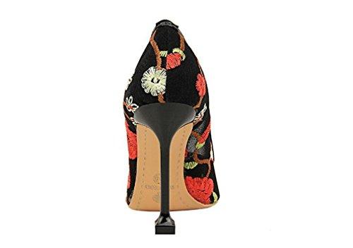 Chaussures Court EU40 Femmes Femme Été Cadeau Filles 4 Reine Mariage Talons Stiletto Talon A Dames Bar CLOVER Mariée LUCKY Saison De Sandales Partie Hauts 1CgqBWnS