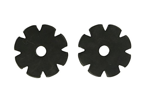 Western Spur Black Steel Rowels 1 Inch Sold In Pair 8 Point