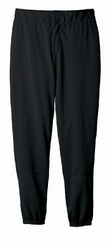 Wilson Women's (Low-Rise) Heavyweight Poly Warp Knit Softball Pant,  Black, Medium - Embroidered Womens Low Rise Short