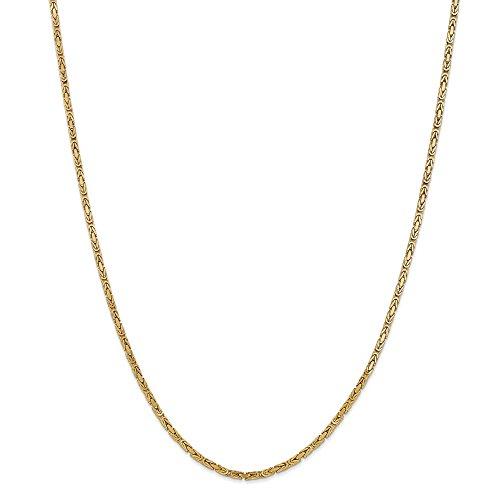 d Big Heavy 2mm Byzantine Chain Necklace 20