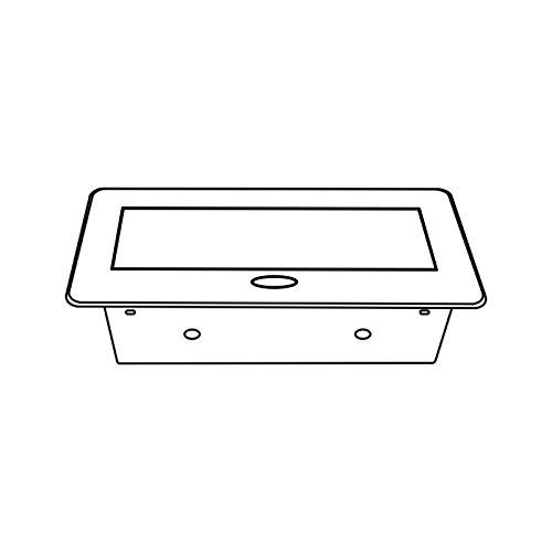 Caja de enchufe empotrable 2/x Schuko /para conectar con 3/M Schuman kokabel 2/x USB 5/V/ /Aluminio Inyectado/ /con Soft Apertura/ /Negro/