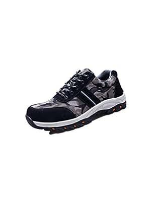 SHANLEE Men's Safety Shoes Puncture Safety Shoes Breathable wear Non-Slip Shoes(Black 35/4.5 B(M) US Women/2.5 D(M) US Men)