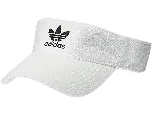 White Visors Bulk (adidas Originals Unisex Originals Terry Visor White/Black One)