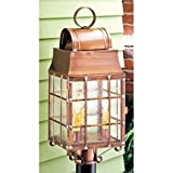 Washington Post Lantern in Antique Copper by Irvin's Country Tinware