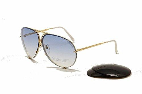 Porsche Design P8478 Sunglasses Titanium Frame Interchangeable Lenses, Hard Case
