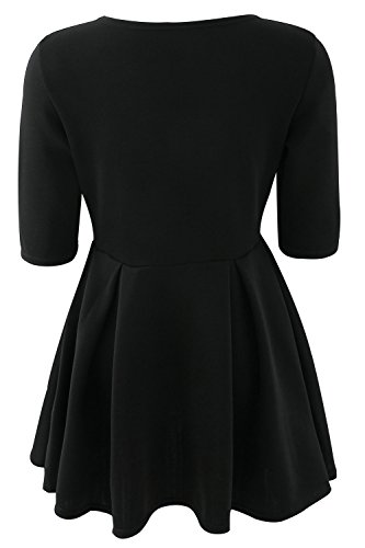 Dress Dresses Swing Skater Slim Sweater Sevozimda Mini Casual Black Women Party xqWwP00zgF
