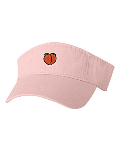 Adjustable Pink Adult Peach Emoji Embroidered Visor Dad Hat