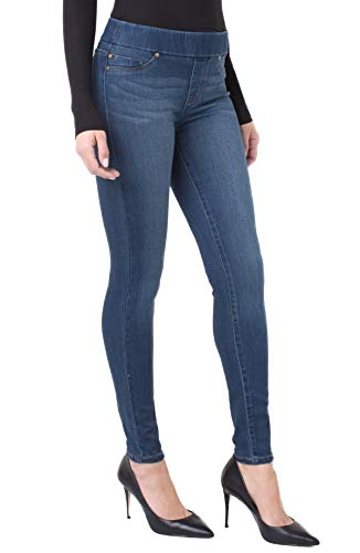 Liverpool Women's Sienna Legging Pull-On Denim Jeans, Petrol Rinse, 8 (The Best Of Liverpool)