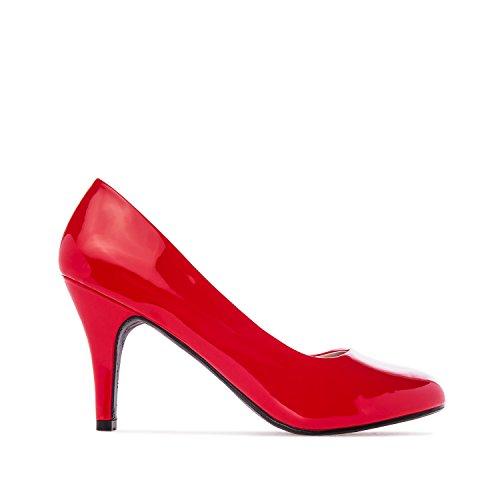 Taglie S Eleganti 9 Nere A Tacco Rosso nbsp;cm 38 Con L 5 Andres Am422 red Scarpe Da M Patent Spillo Machado xcqpPO76