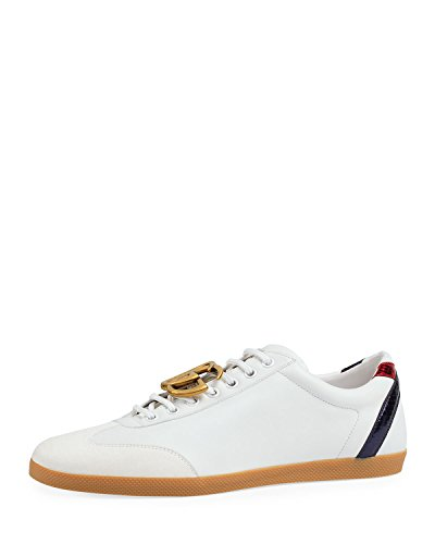 Gucci Men's Bambi GG Leather Low-Top Sneaker, White, used for sale  Delivered anywhere in USA