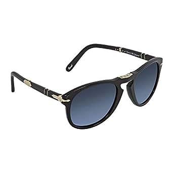 Amazon.com: Persol Mens Sunglasses Black/Blue Acetate