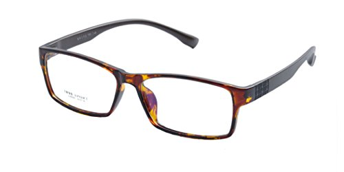 Deding Men Super Large Wide Oversized Full Frame Squaretr90 Glasses Frame Size 60-189-148mm (Tortoise) (90er Brillen Frames)