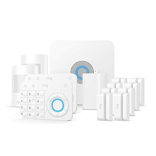 Ring Alarm 14 Piece Kit - Home Security System with optional 24/7 Professional Monitoring - No long-term contracts - Works with Alexa (Best No Contract Alarm System)