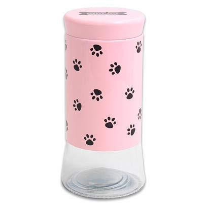 New 202116 Bh Collection Pet Glass Treat Jar - Pink 50.5Oz (8-Pack) Jars Wholesale Bulk Glass Vases Jars Storage Jars