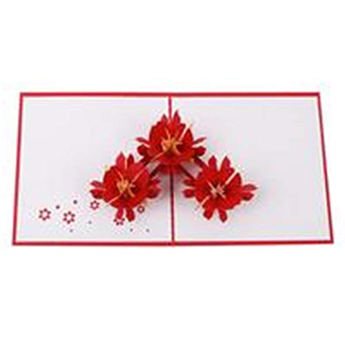 1Pcs 3D Pop Up Greeting Cards with Envelope Cut Post Card for Xmas Valentine' Day Birthday Party Wedding Decoration 35 -