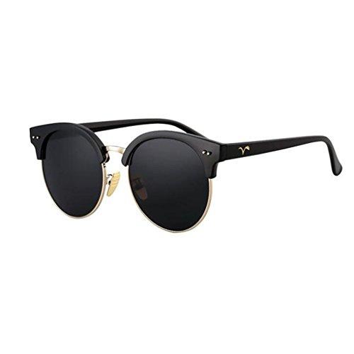 luz polarizada de Sol HOME Playa La Negro Elegante QZ Vintage Gafas Plata Moda Color Personalidad zwtvEx