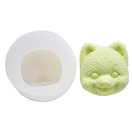 Amazon com: Clay Molds - 3d Dog Head Plaster Mould Gypsum
