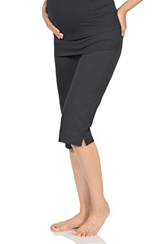 Beachcoco Women's Maternity Comfortable Knee Cropped Active Lounge Pants (L,...