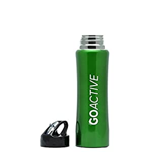 Insulated Water Bottle with Straw: GO Active Stainless Steel Double Wall Sport bottle featuring ActiveLockTM thermal vacuum keeps ice cubes over 24 hours! Durable, Portable and Great for Kids