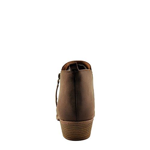 Nutmeg Side Bootie Zipper 133 Sochi Women's Qupid Nubuck Ankle W0Xw8qRHIx