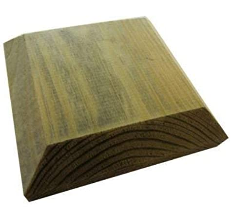 120mm Square Green Treated Wood Decking Fence Post Caps For 4 Inch Posts: Amazon.es: Jardín