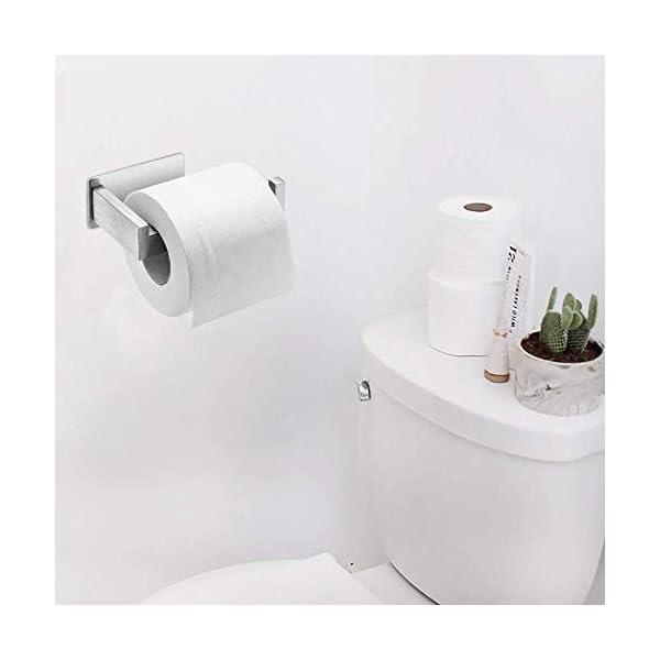 31ACsQg%2BI3L Auxmir Toilettenpapierhalter ohne Bohren, WC Klopapierhalter Rollenhalter Papierhalter Klorollenhalter Edelstahl…
