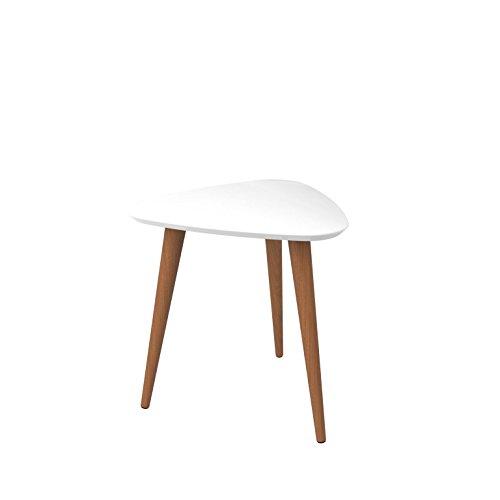 Manhattan Comfort 89851 Utopia High Triangle End Table, White Gloss