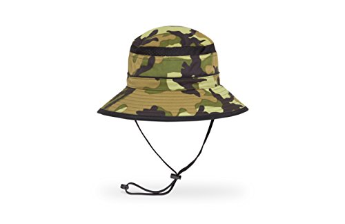 Sunday Afternoons Kids Fun Bucket Hat, Green Camo, Large
