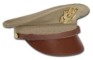 Repro Gr.S Mil-Tec US Offizier Visor Hat mit Abzeichen oliv