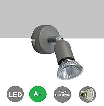 7Watt LED Strahler Spot LINOS nickel 1 flammig Wandspot Wandbeleuchtung Deckenlampe Wandleuchte